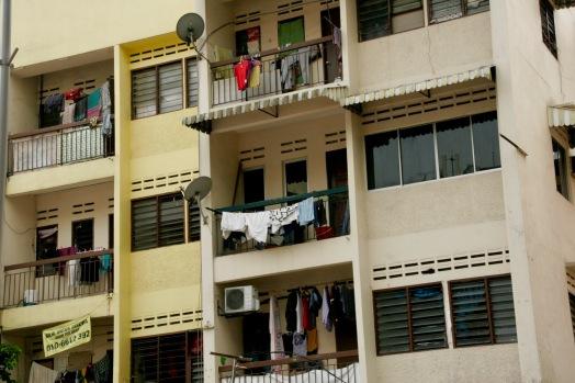 Balkone in der Jalan Alor
