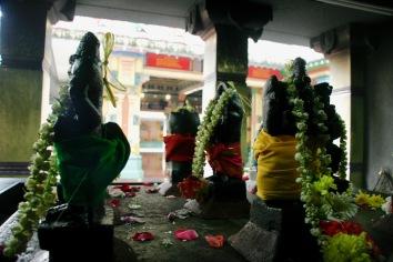 Bedächtiges Schreiten durch den Tempel