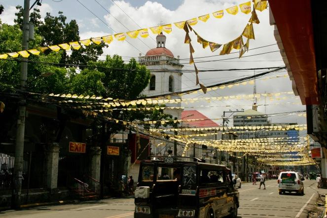 Belebte Straßen mitten in Cebu City