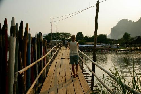 Überqueren des Nam Song
