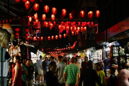 Chinatown Kuala Lumpur bei Nacht