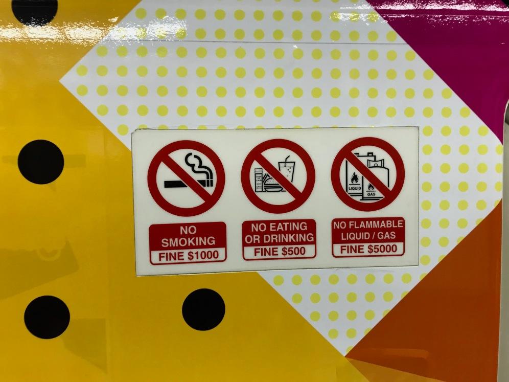 Hohe Strafen in Singapur