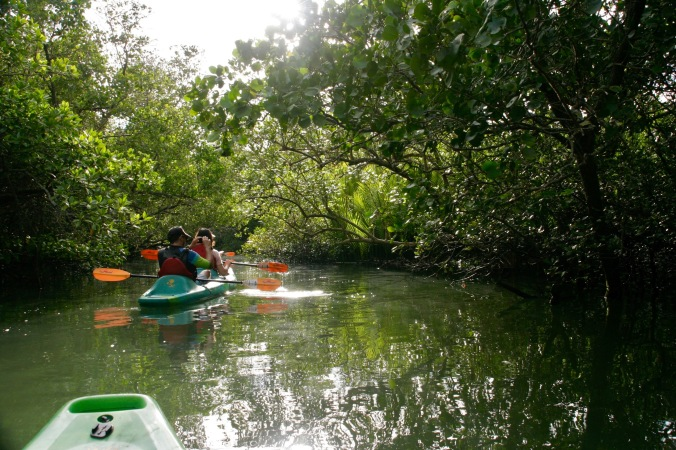 Kayaken auf dem Abatan Fluss