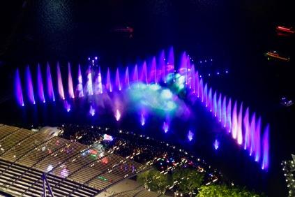 Lichtshow des Marina Bay Sands