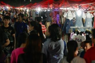Nachtmarkt in Vientiane