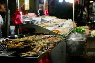 Satayspieße in Chinatown, Kuala Lumpur