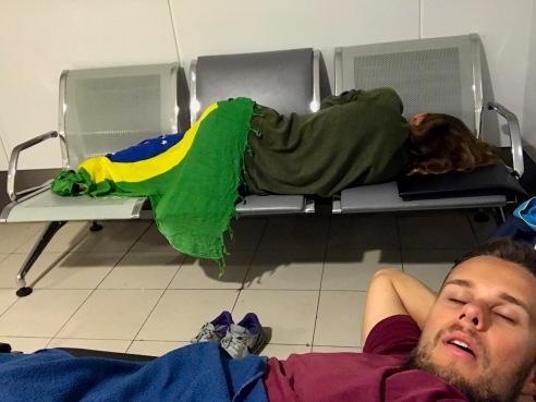 Schlaflager im Kuala Lumpur Flughafen