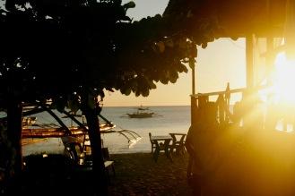 Sonnenuntergang bei unserem Stammrestaurant
