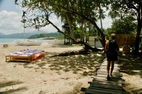 Strand von Sabang mit Massagemöglichkeiten