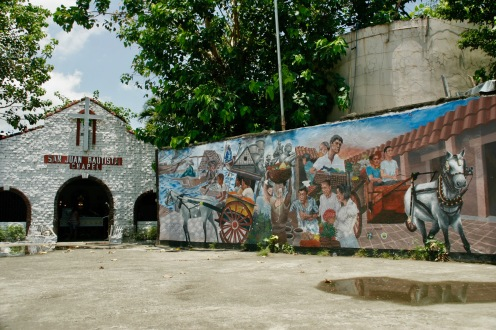 Street Art und kleine Kirche in Cebu City