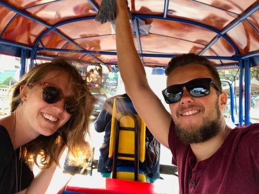 Tuk Tuk Fahrt in Vientiane