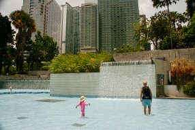 Verbotene Abkühlung in Kuala Lumpur