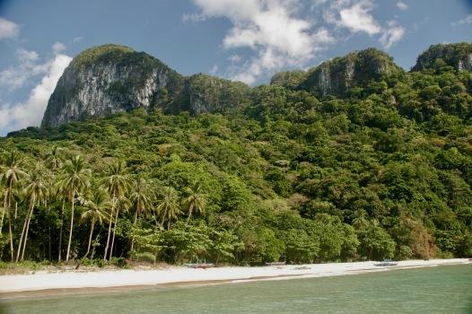 Weiße Strände wohin das Auge reicht auf Palawan