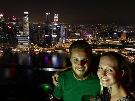 Zusammen auf dem Marina Bay Sands