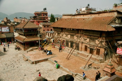 Aussicht vom Nyatapola Tempel in Bhaktapur