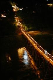 Bambusbrücke im Nam Khan