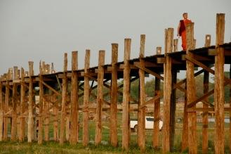 Berühmte U Bein Brücke bei Mandalay