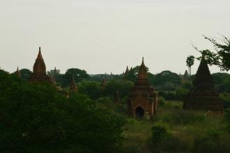 Blick über Bagan vom Htilominio Tempel