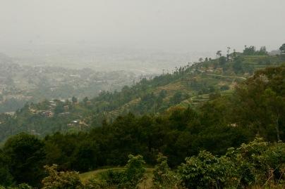 Blick über die Hügel im Kathmandu-Tal