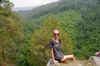 Blick über die Hügel Nepals bei unserer zweiten Wanderung
