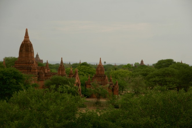 Blick vom Panoramahügel in Bagan