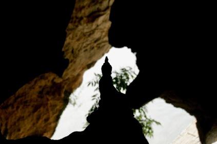Buddhastatue in den Pak Ou Höhlen