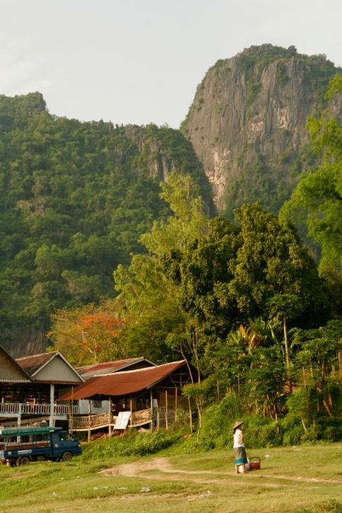 Dorfleben am Mekong in Laos