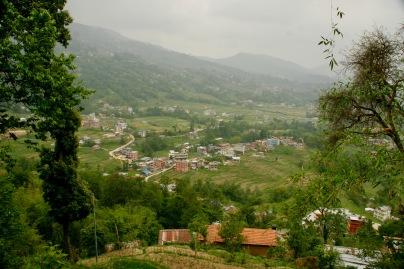 Erste Wanderung mit Blick über das Kathmandu-Tal