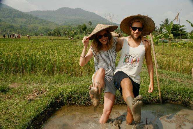 Für einen Tag als Reisbauern unterwegs