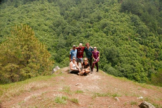 Gemeinsam mit den anderen Yogis bei der zweiten Wanderung