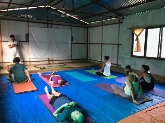 Gleich geht wieder die Yoga-Session los