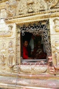 Heiliger Schrein beim Swayambhunath Tempel