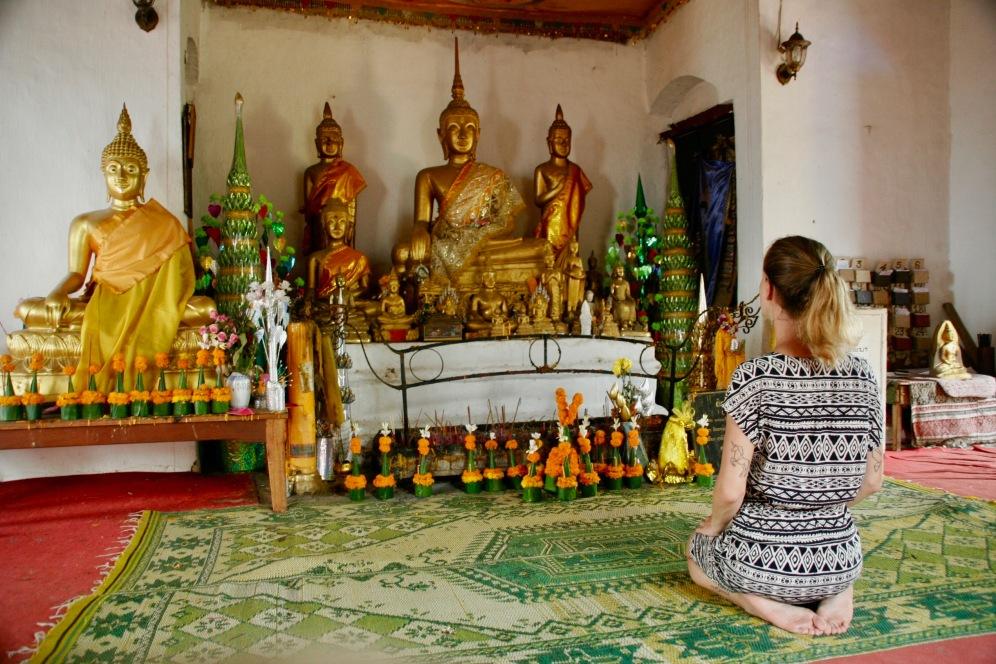 Im oberen Tempel auf dem Phou Si in Luang Prabang