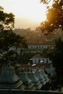Letztes Tageslicht beim Pashupatinath Tempel