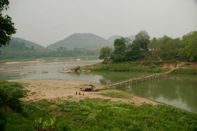 Mekong und Nam Khan treffen sich in Luang Prabang