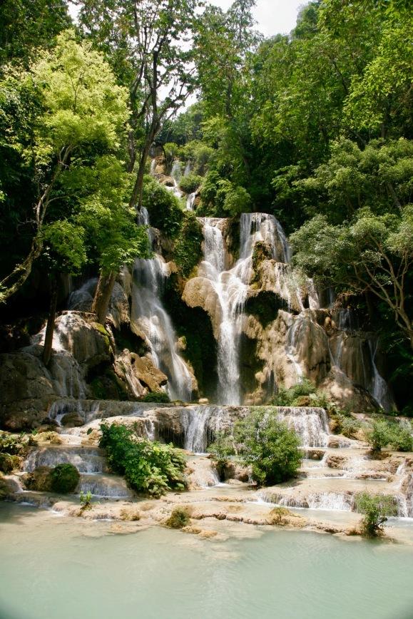 Oberster Teil der Kuang Si Wasserfälle