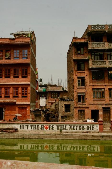 Passende Message nach dem Erdbeben von 2015