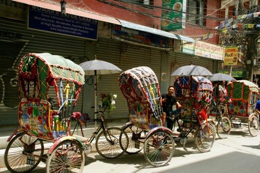 Rikschas in Kathmandu