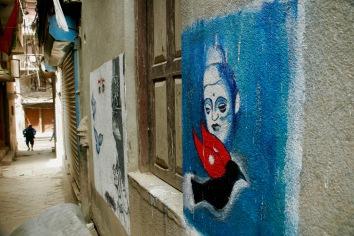 Street Art in den Gassen Kathmandus