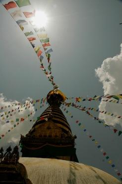 Swayambhunath Tempel bekannt als Affentempel