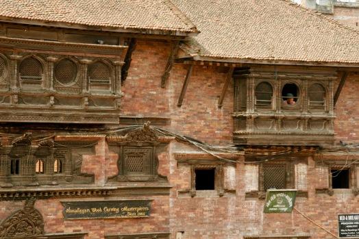 Traditionelle Holzarchitektur im Herzen Bhaktapurs