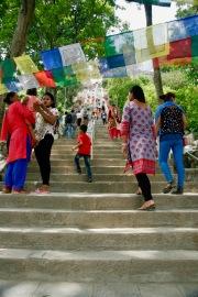Treppen hinauf zum Swayambhunath Tempel