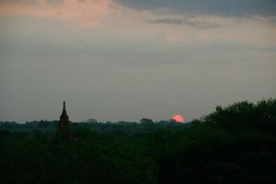 Unser einziger Sonnenaufgang in Bagan