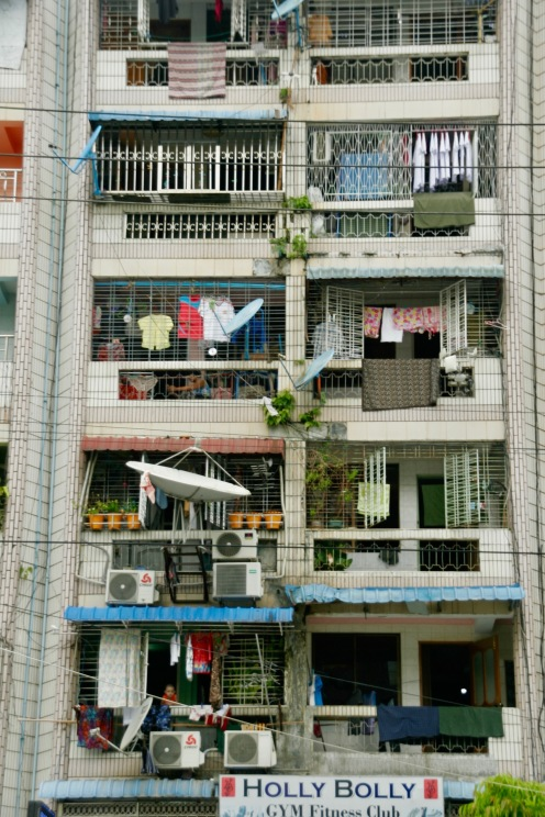 Wohnblöcke in Yangon, Myanmar