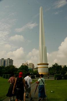 Zeichen der Unabhängigkeit Myanmars in Yangon