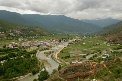 Blick über das Paro Tal vom Paro Dzong