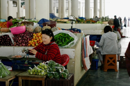 Centenary Farmers Market in Thimphu
