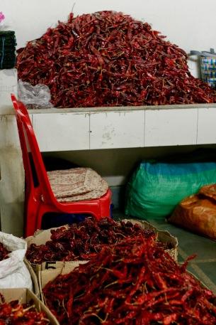 Chillis, Chillis, Chillis - Centenary Farmers Market in Thimphu