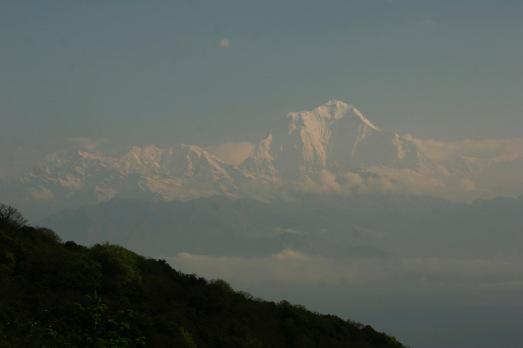 Dhaulagiri - unser erster Achttausender zeigt sich trotz Monsun in voller Pracht