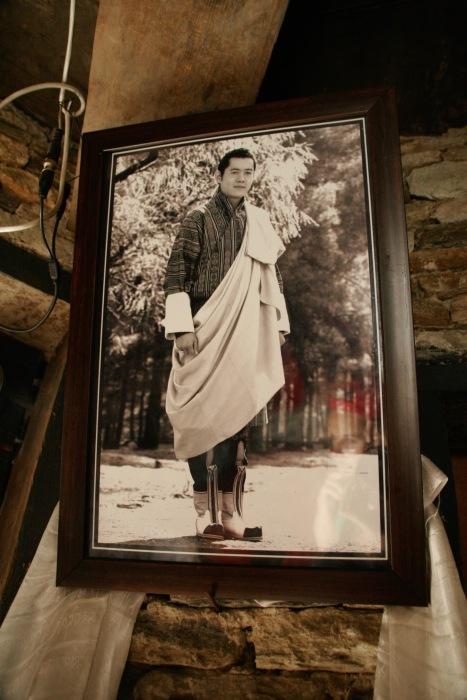 Fünfter und amtierender König Bhutans ist überall gegenwärtig